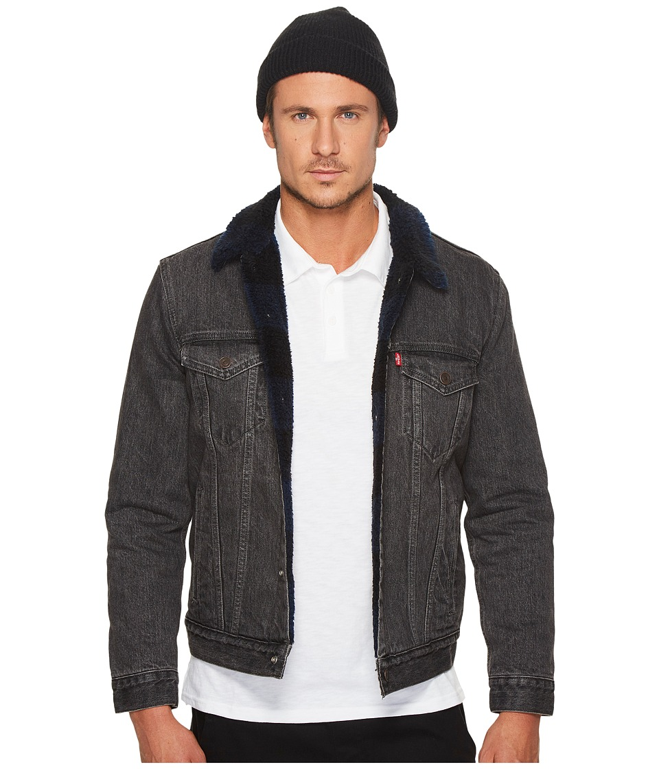 Levi's(r) Mens - Type III Sherpa Trucker Jacket (Ocean Fire Blue/Black) Men's Coat