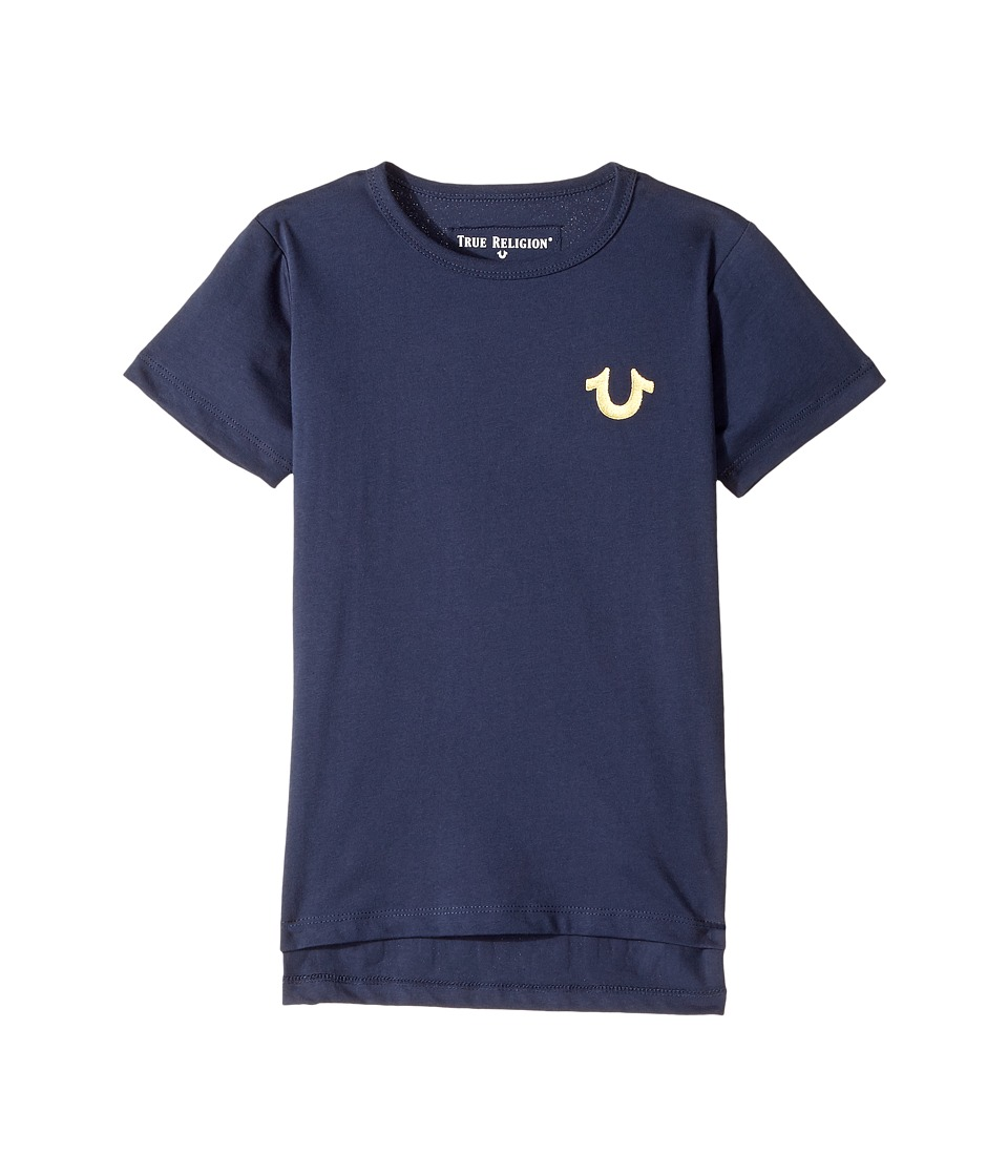 True Religion Kids - Hi Low Tee Shirt (Toddler/Little Kids) (Navy) Boy's T Shirt
