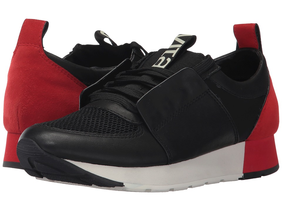 Dolce Vita - Yana (Black/Red Leather) Women's Shoes