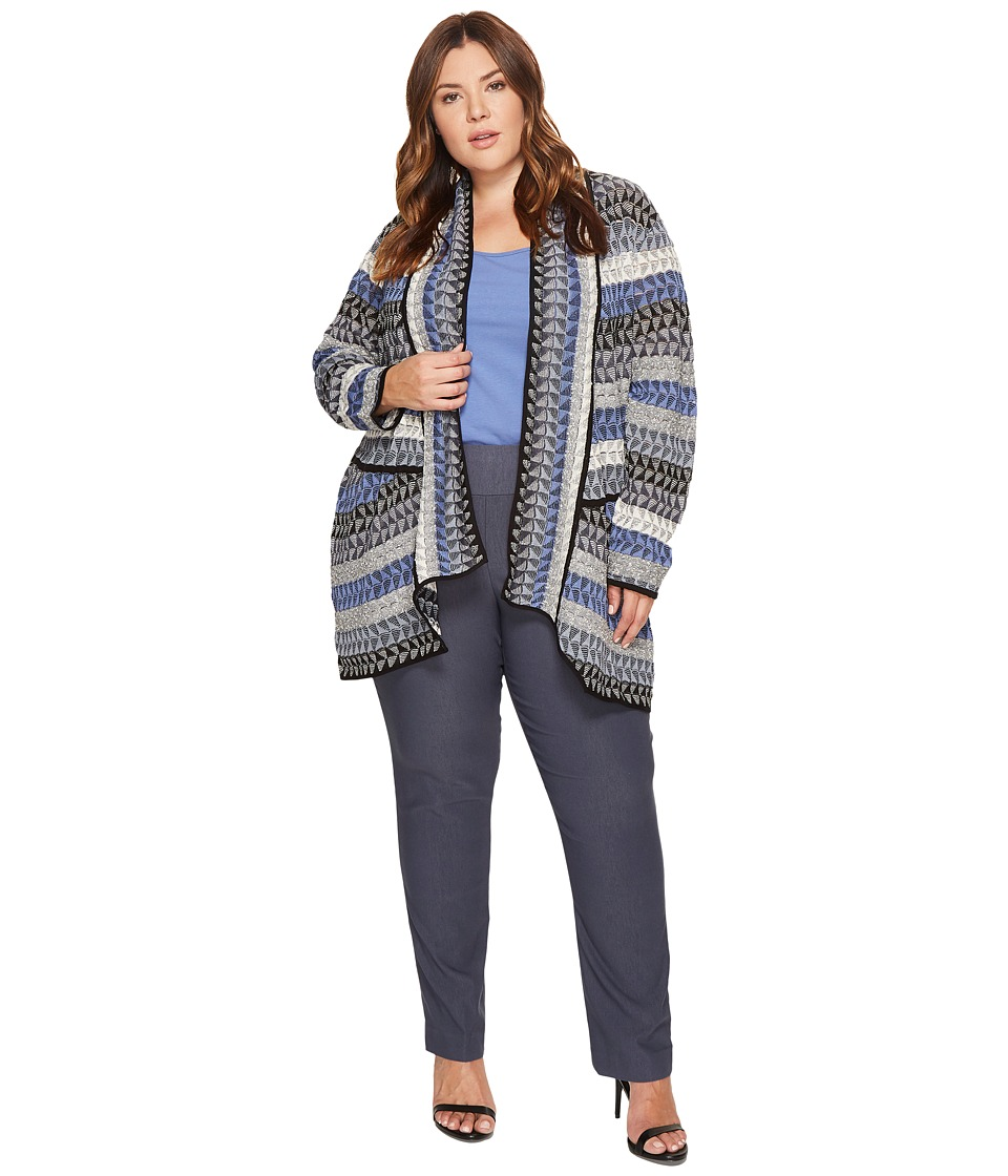 NIC+ZOE - Plus Size Triangle Bliss Cardy (Multi) Women's Sweater