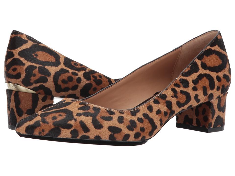 Calvin Klein Genoveva Pump (Natural Winter Leopard Haircalf) Women