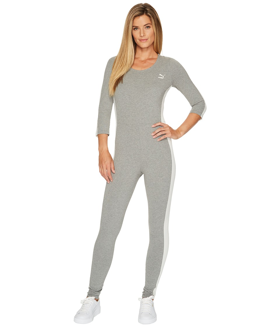 PUMA - T7 Jumpsuit (Medium Gray Heather) Women's Jumpsuit & Rompers One Piece