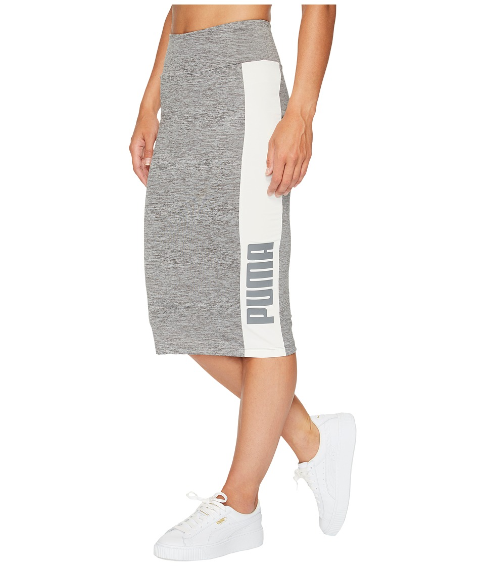 PUMA - Archive Logo Pencil Skirt (Medium Gray Heather) Women's Skirt