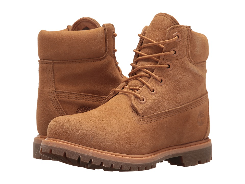 Timberland - 6 Premium Boot (Biscuit Suede) Women's Lace-up Boots