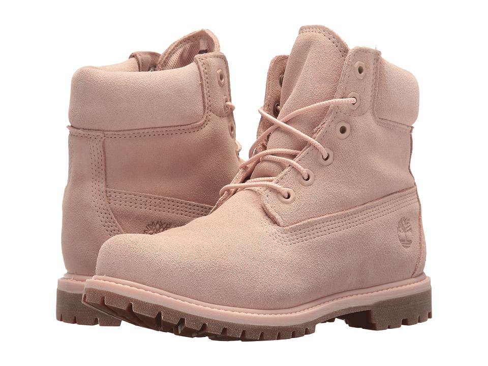 Timberland 6 Premium Boot (Cameo Rose Suede) Women