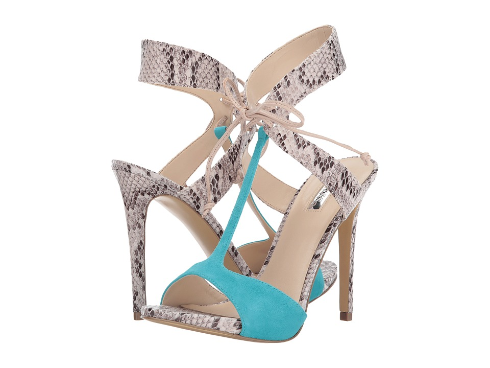 GUESS - Alexes (Beige Multi/Turquoise/Light Nude) High Heels