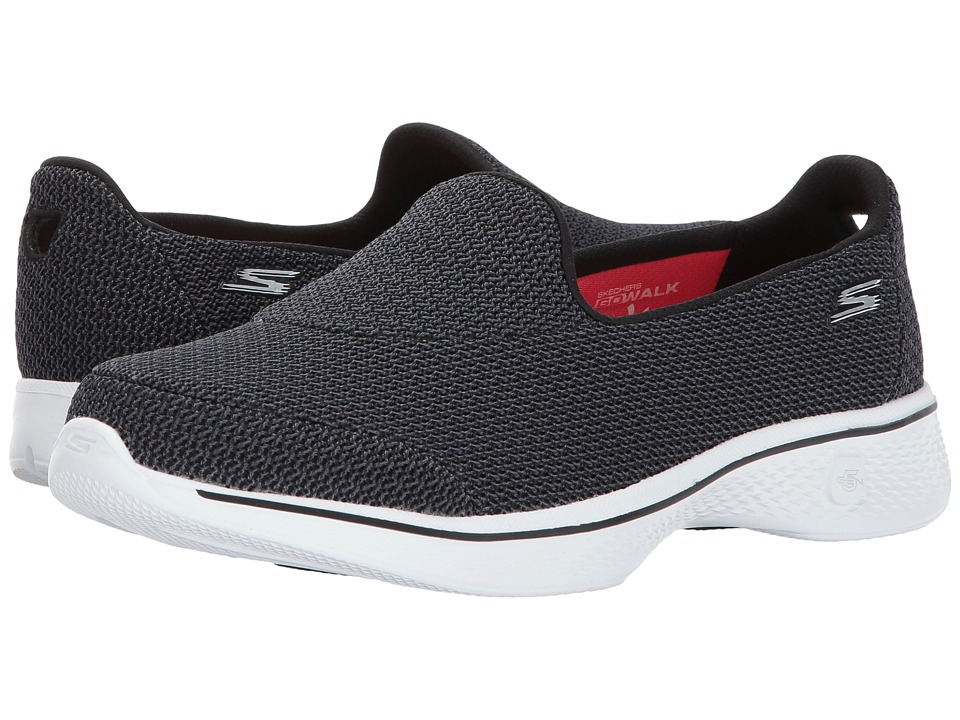 SKECHERS Performance - Go Walk 4 - Majestic (Black/White) Women's Shoes
