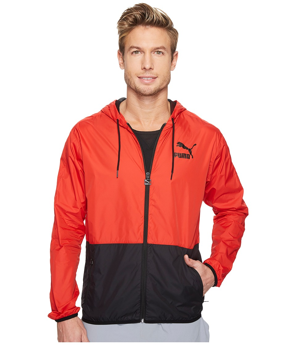PUMA - Archive T7 Windbreaker (Barbados Cherry/Puma Black) Men's Coat