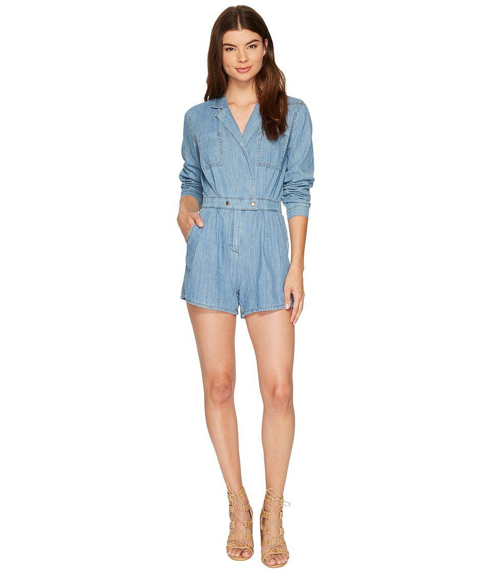 MINKPINK - Utility Wrap Playsuit (Dusty Blue) Women's Jumpsuit & Rompers One Piece