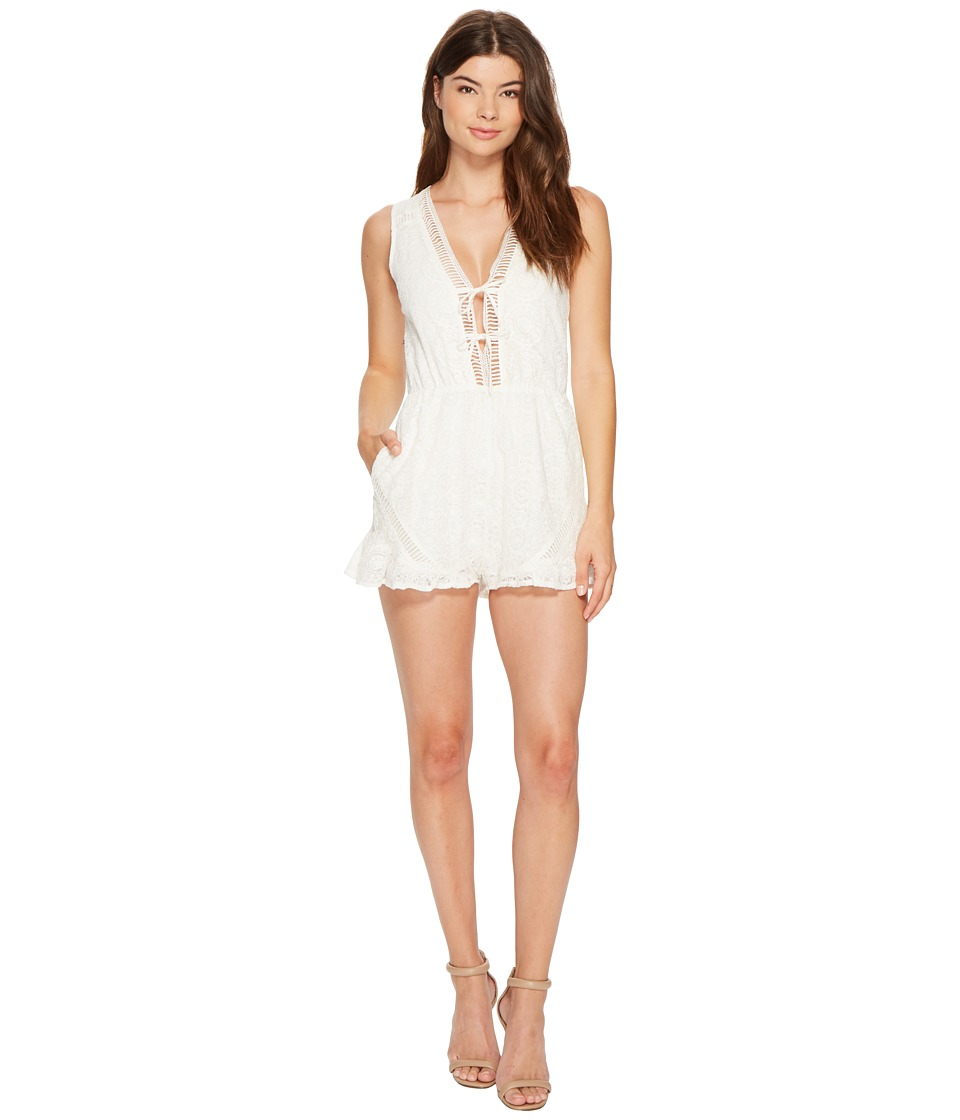 MINKPINK - Palace Playsuit (Off-White) Women's Jumpsuit & Rompers One Piece