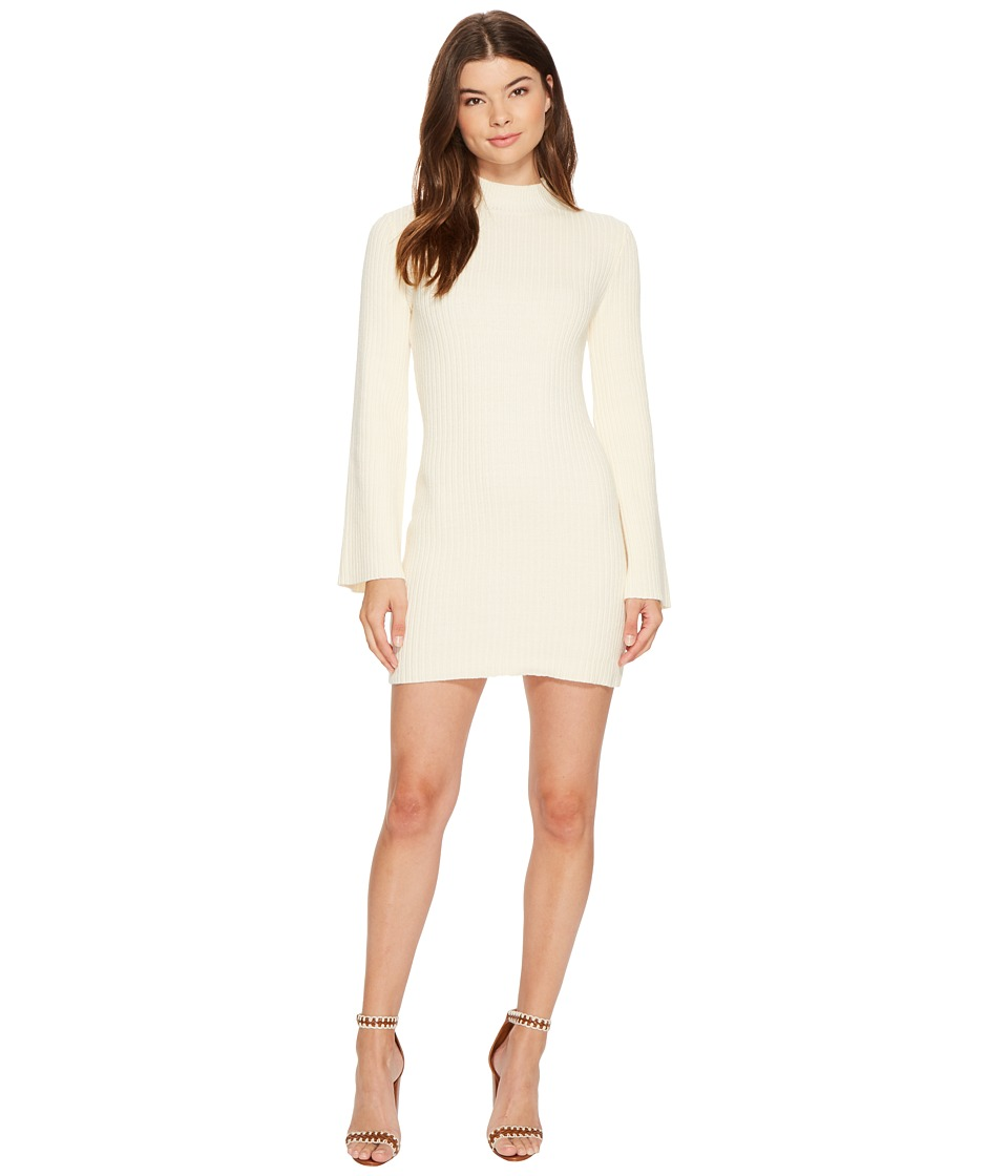 MINKPINK - Open Arms Jumper Dress (Cream) Women's Dress