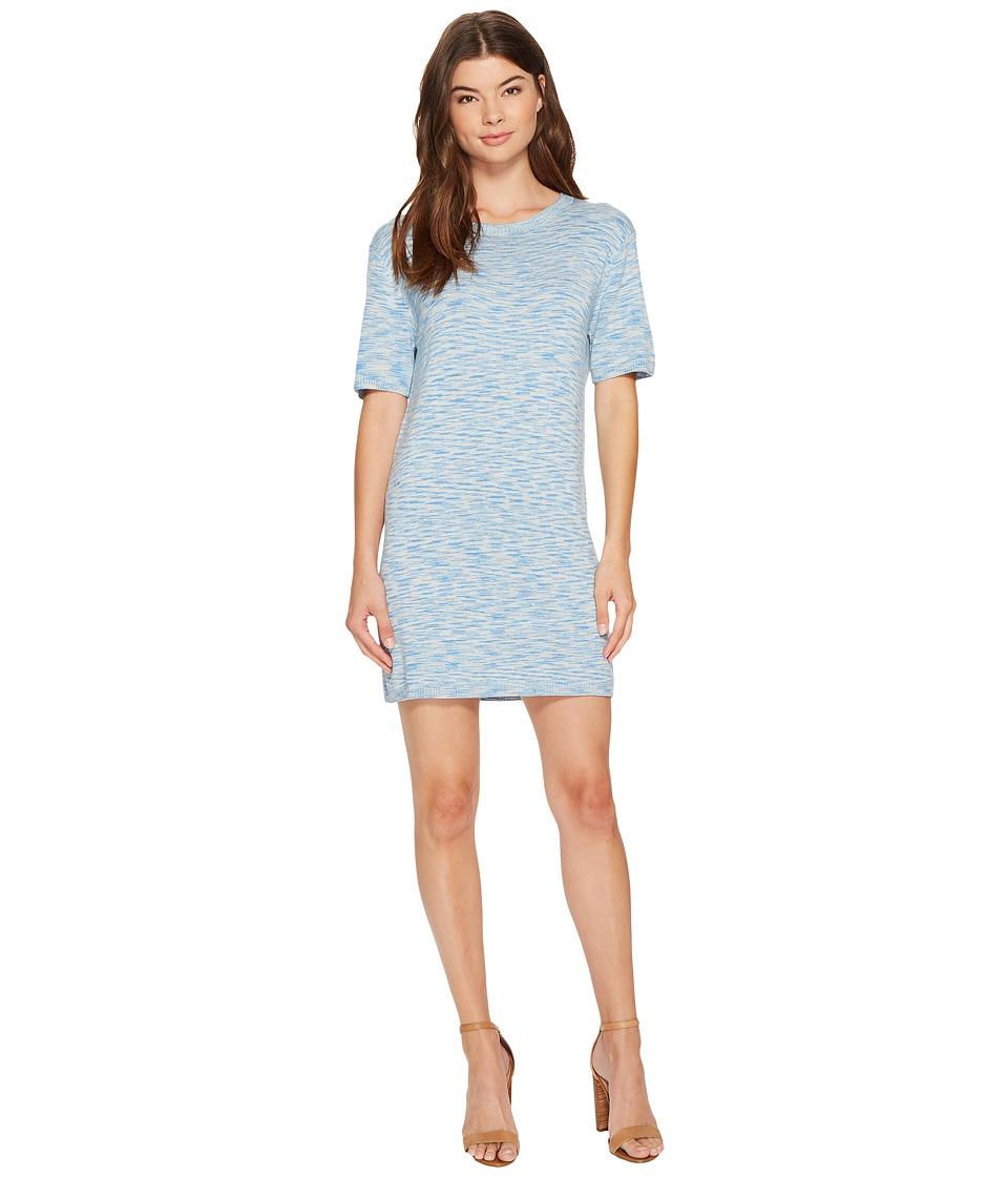 MINKPINK - Space Dye Knit Mini Tee Dress (Light Blue) Women's Dress