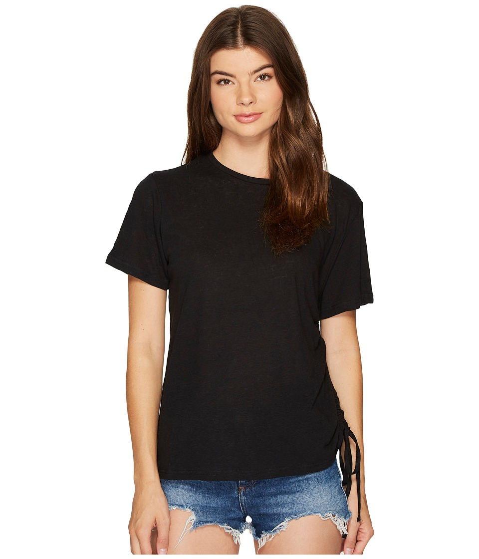 MINKPINK - Fortress Drawstring Tee (Black) Women's T Shirt