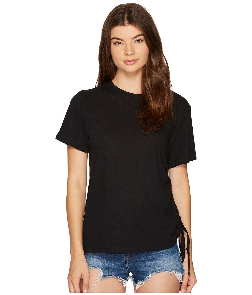 MINKPINK - Fortress Drawstring Tee (Black) Women's T Shirt