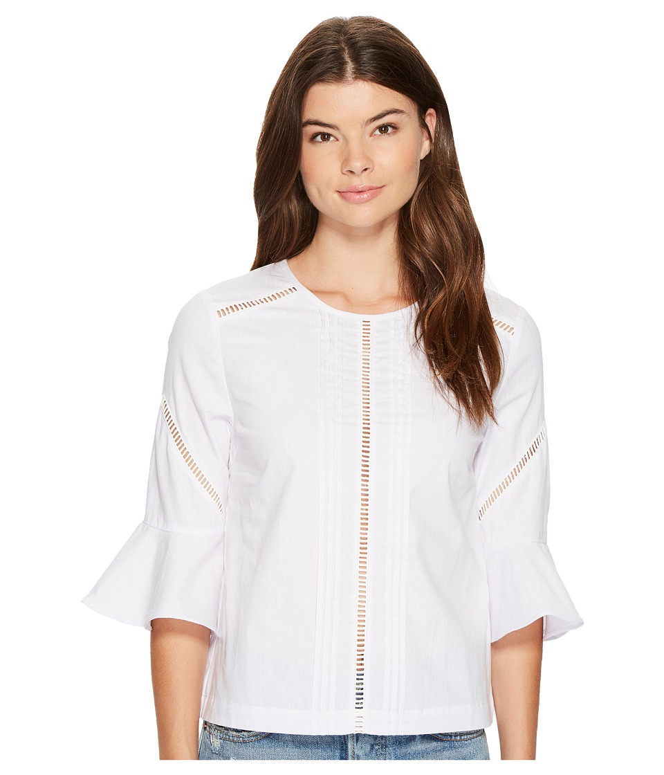MINKPINK - Casablanca Trim Blouse (White) Women's Blouse