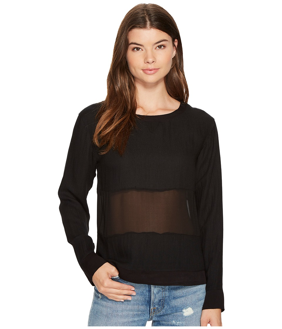 MINKPINK - Twofer Woven Sweater (Black) Women's Sweater
