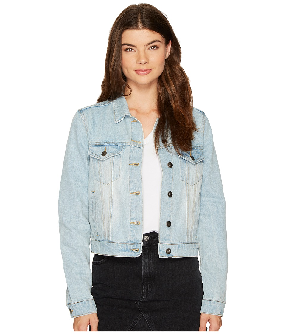 MINKPINK - Light Up Denim Jacket (Light Blue) Women's Coat