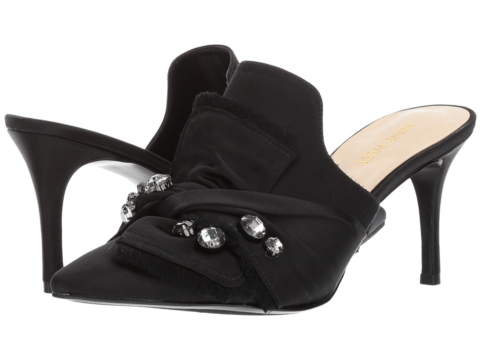 Nine West - Macadamia (Black Satin) Women's Shoes