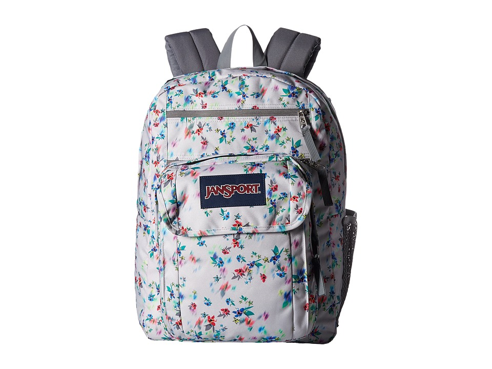 JanSport - Digital Student (Multi Grey Floral) Backpack Bags