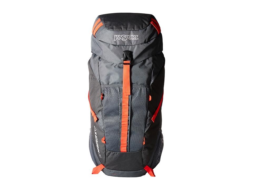 JanSport - Katahdin 50L (Greytar/Forgegrey) Backpack Bags