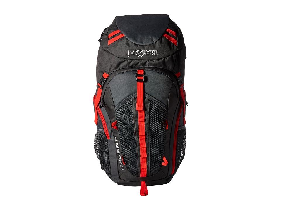 JanSport - Katahdin 40L (Greytar/Forgegrey) Backpack Bags