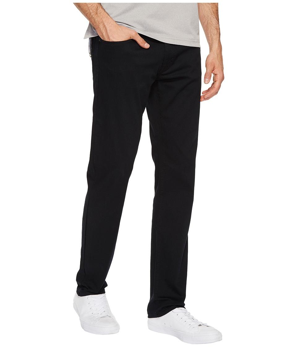 U.S. POLO ASSN. - Five-Pocket Slim Straight Slub Twill Pants (Black) Men's Casual Pants