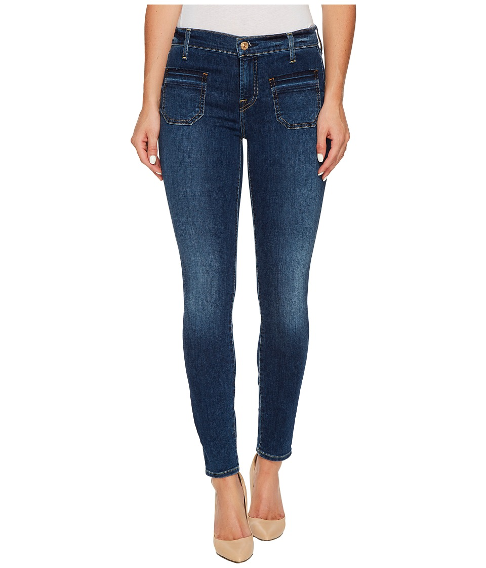7 For All Mankind - The Ankle Skinny w/ Front Released Pockets in Stunning Bleeker 3 (Stunning Bleeker 3) Women's Jeans