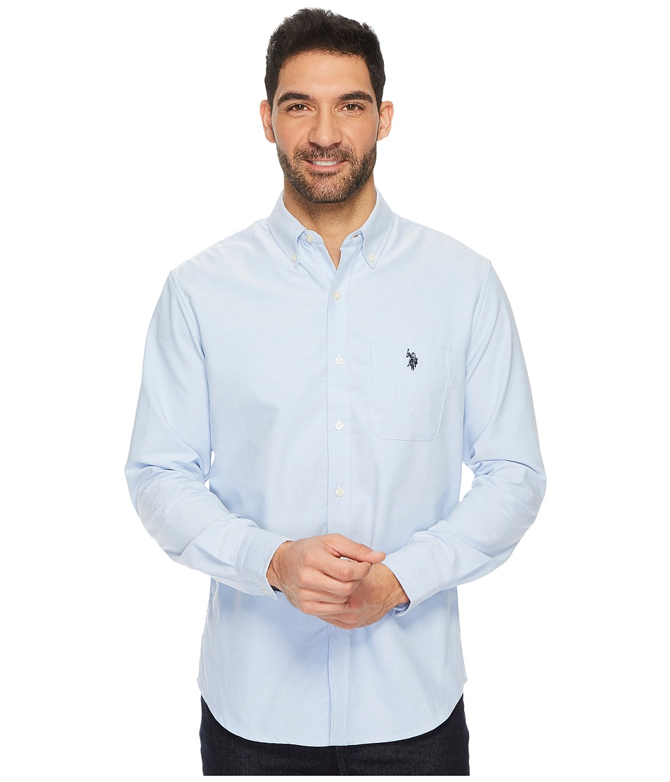 U.S. POLO ASSN. - Classic Fit Long Sleeve Sport Shirt (Light Blue) Men's Clothing