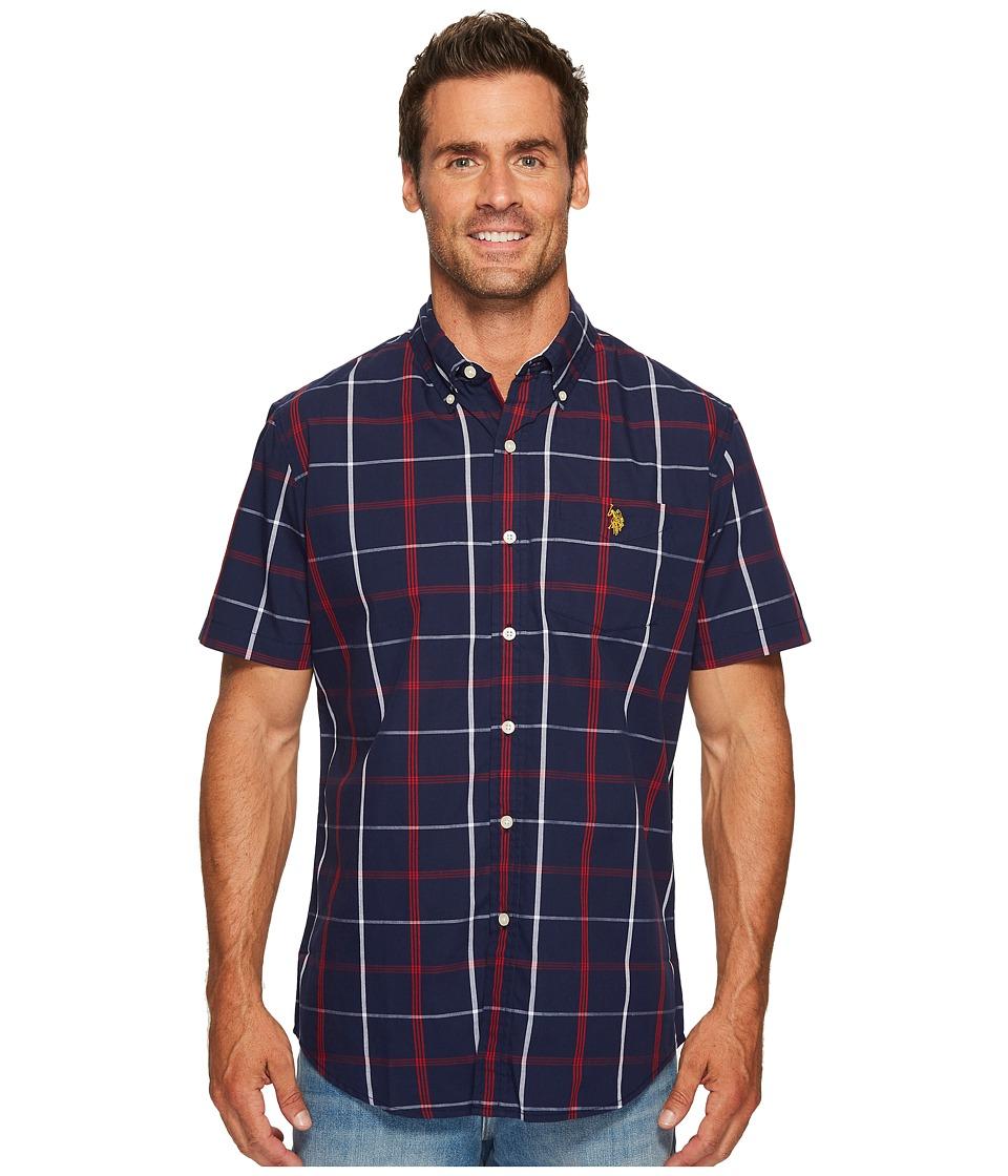 U.S. POLO ASSN. - Classic Fit Short Sleeve Sport Shirt (Classic Navy) Men's Clothing