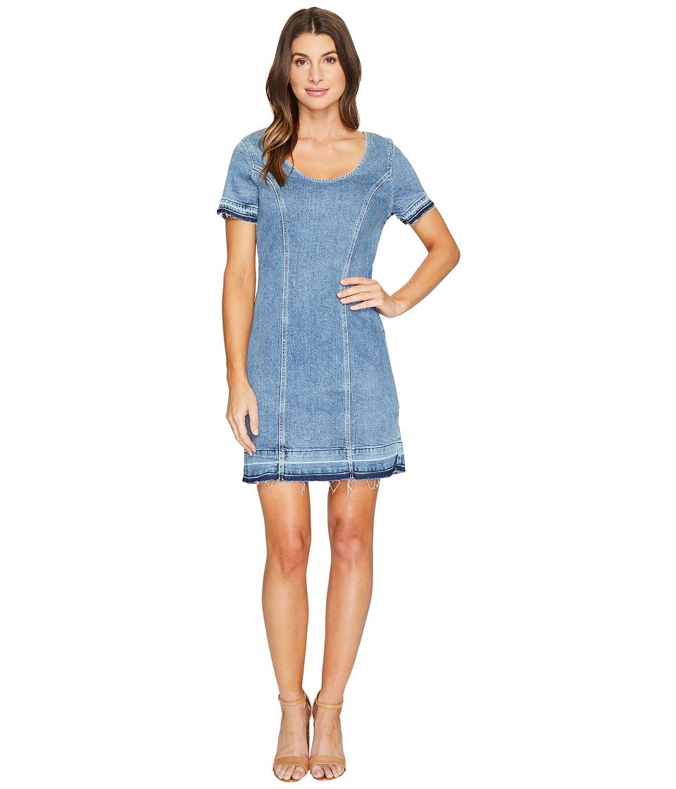 7 For All Mankind - Short Sleeve Shift Dress w/ Released Hem Rockaway in Beach 2 (Rockaway Beach 2) Women's Dress