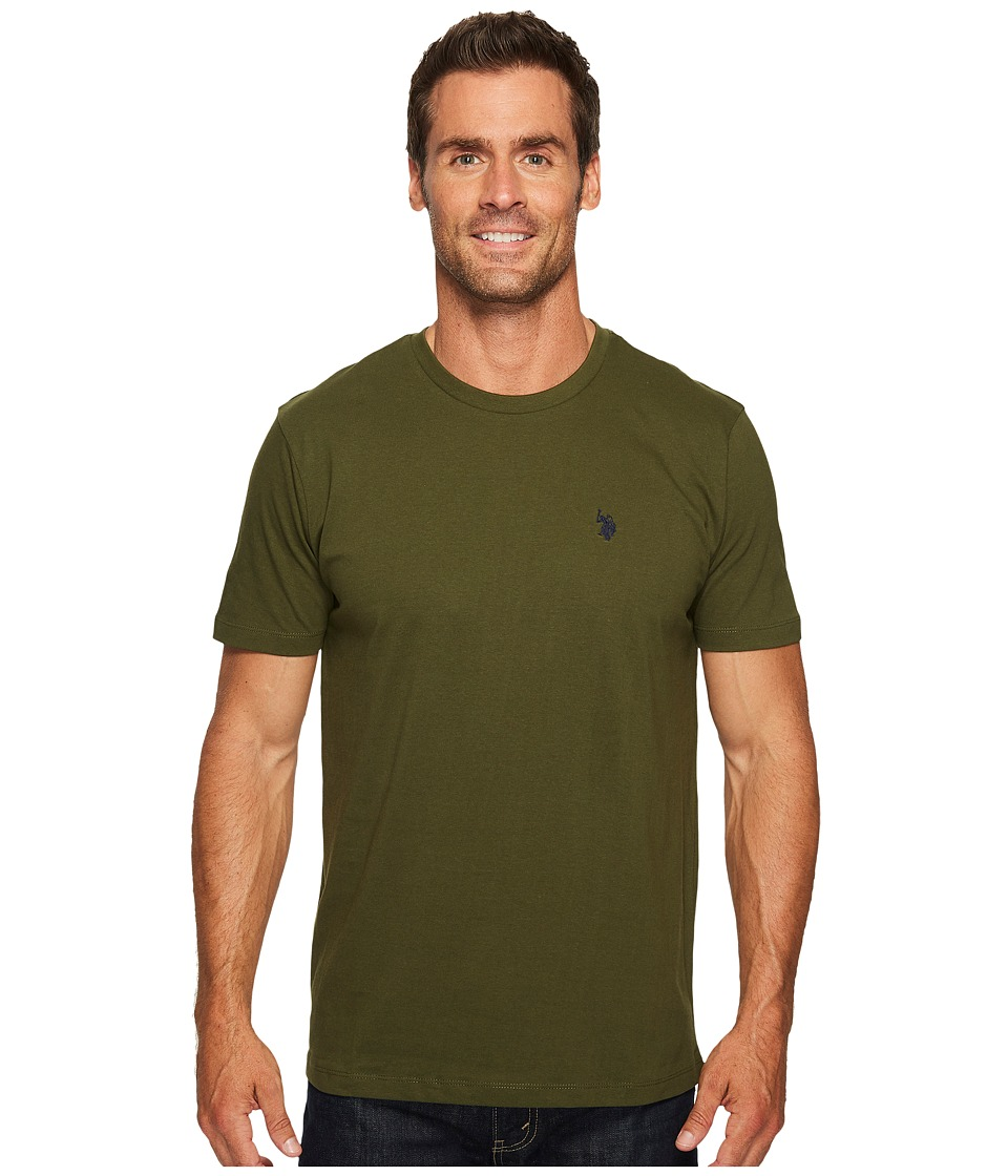 U.S. POLO ASSN. - Crew Neck Small Pony T-Shirt (Olive Press) Men's Short Sleeve Pullover