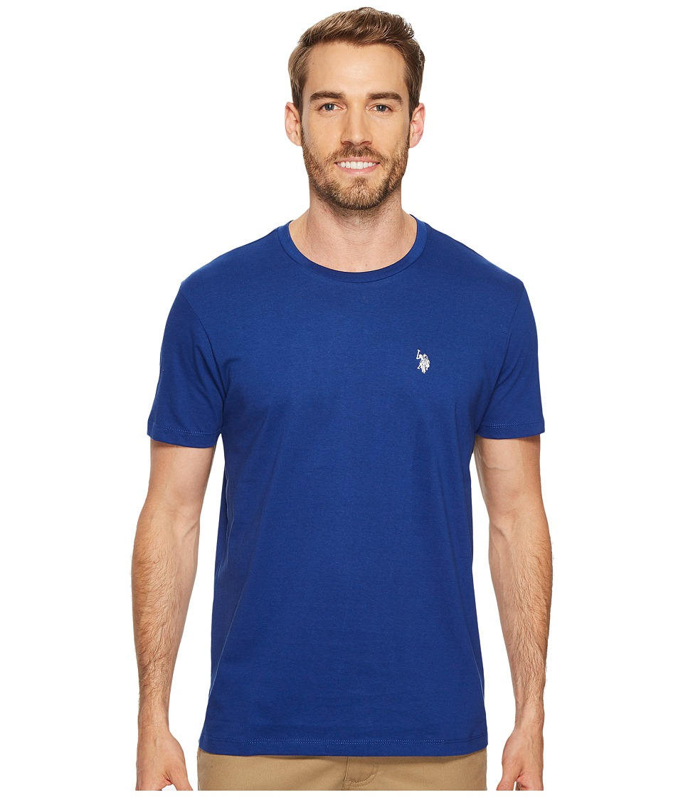 U.S. POLO ASSN. - Crew Neck Small Pony T-Shirt (Barcelona Blue) Men's Short Sleeve Pullover