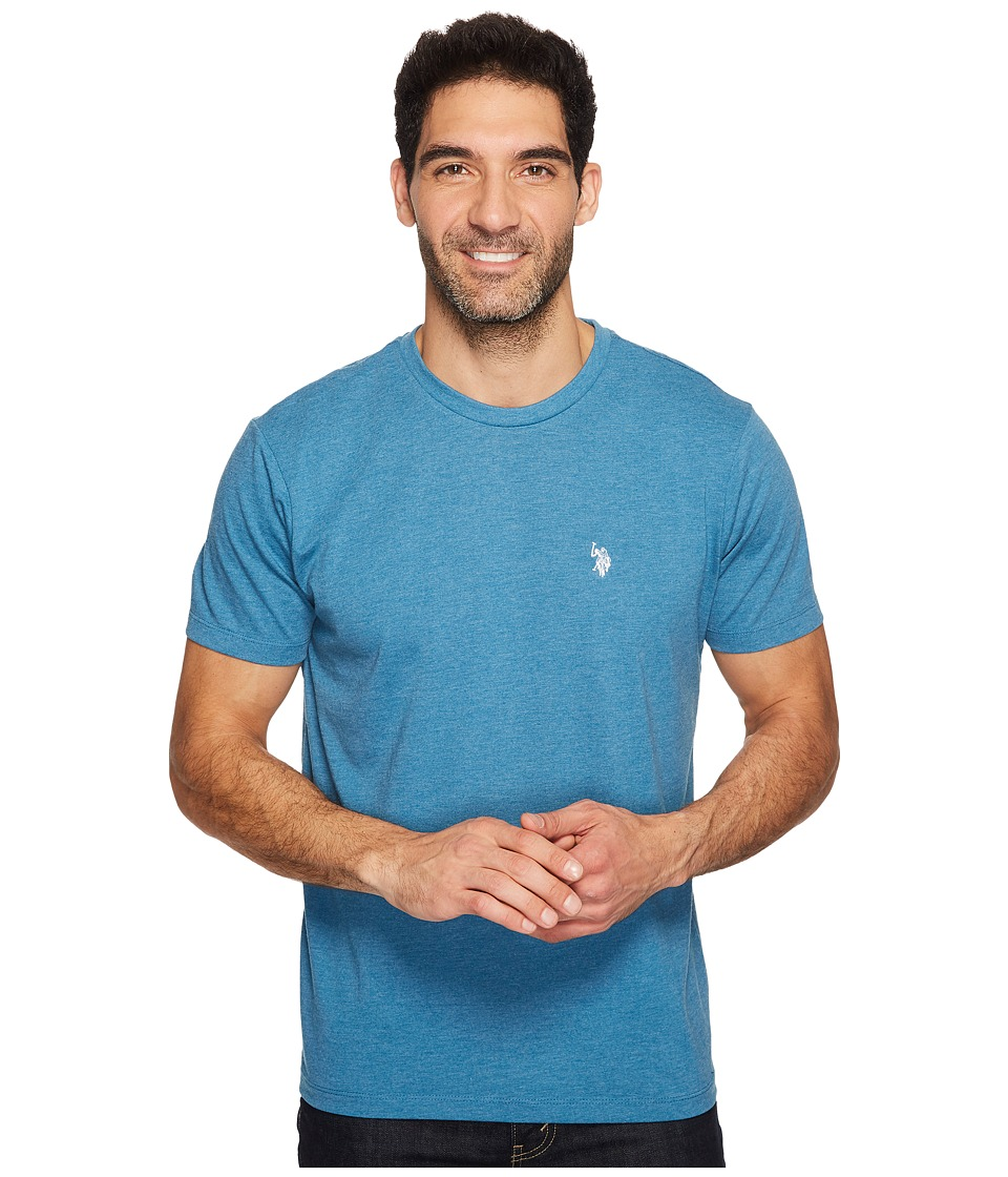 U.S. POLO ASSN. - Crew Neck Small Pony T-Shirt (Medium Blue Heather) Men's Short Sleeve Pullover