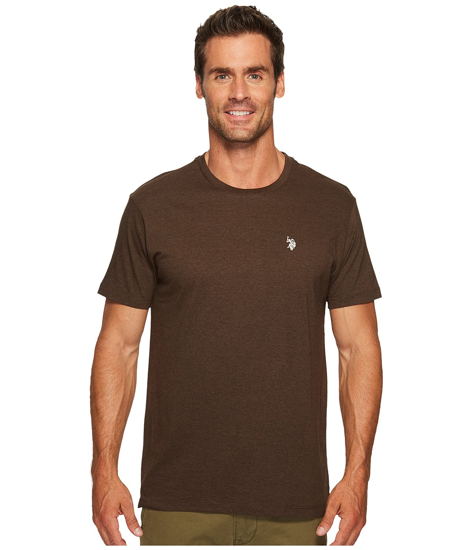 U.S. POLO ASSN. - Crew Neck Small Pony T-Shirt (Brown Heather) Men's Short Sleeve Pullover