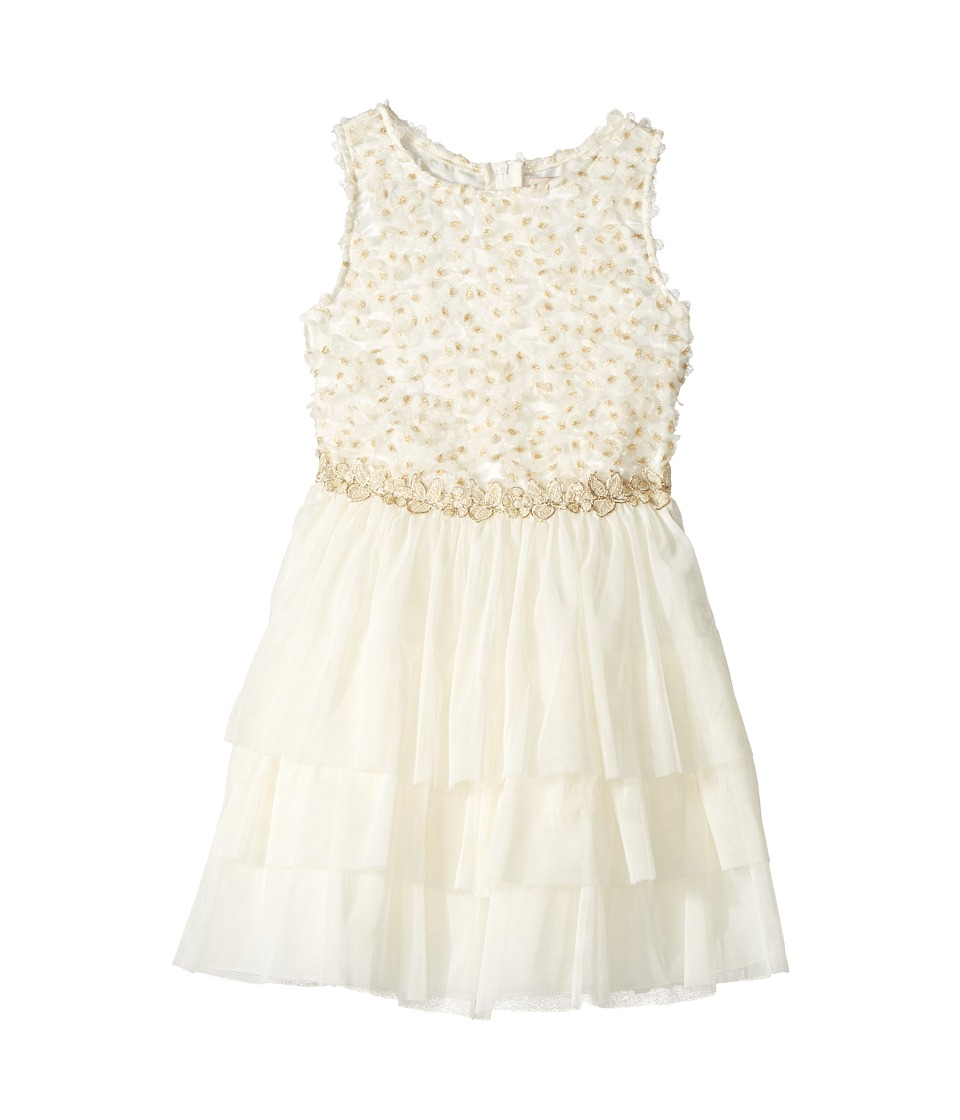 Nanette Lepore Kids - Lurex Ribbon Mesh with Lurex Crochet Trim (Toddler/Little Kids) (Cream) Girl's Dress