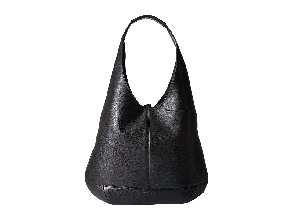 Lucky Brand - Mia Hobo (Black) Hobo Handbags