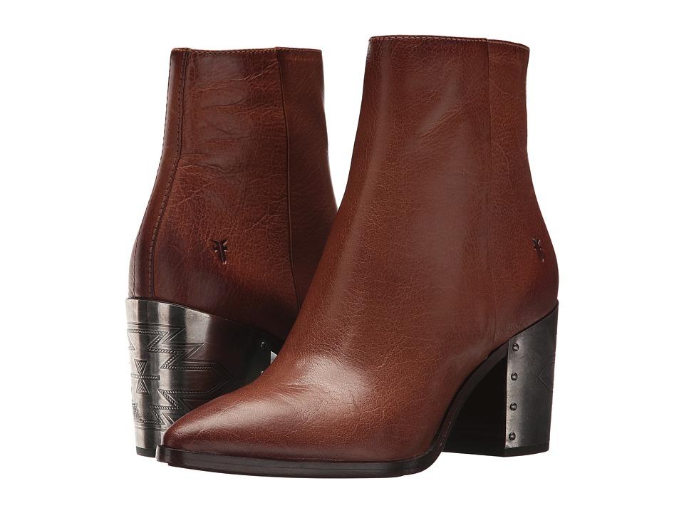 Frye Flynn Omaha Short Inside Zip (Cognac Tumbled Buffalo) Women