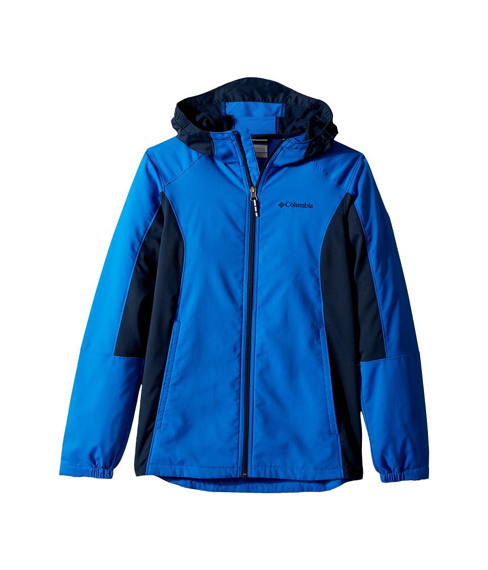 Columbia Kids SplashFlashtm Hooded Softshell Jacket (Little Kids/Big Kids) (Super Blue/Collegiate Navy) Boy