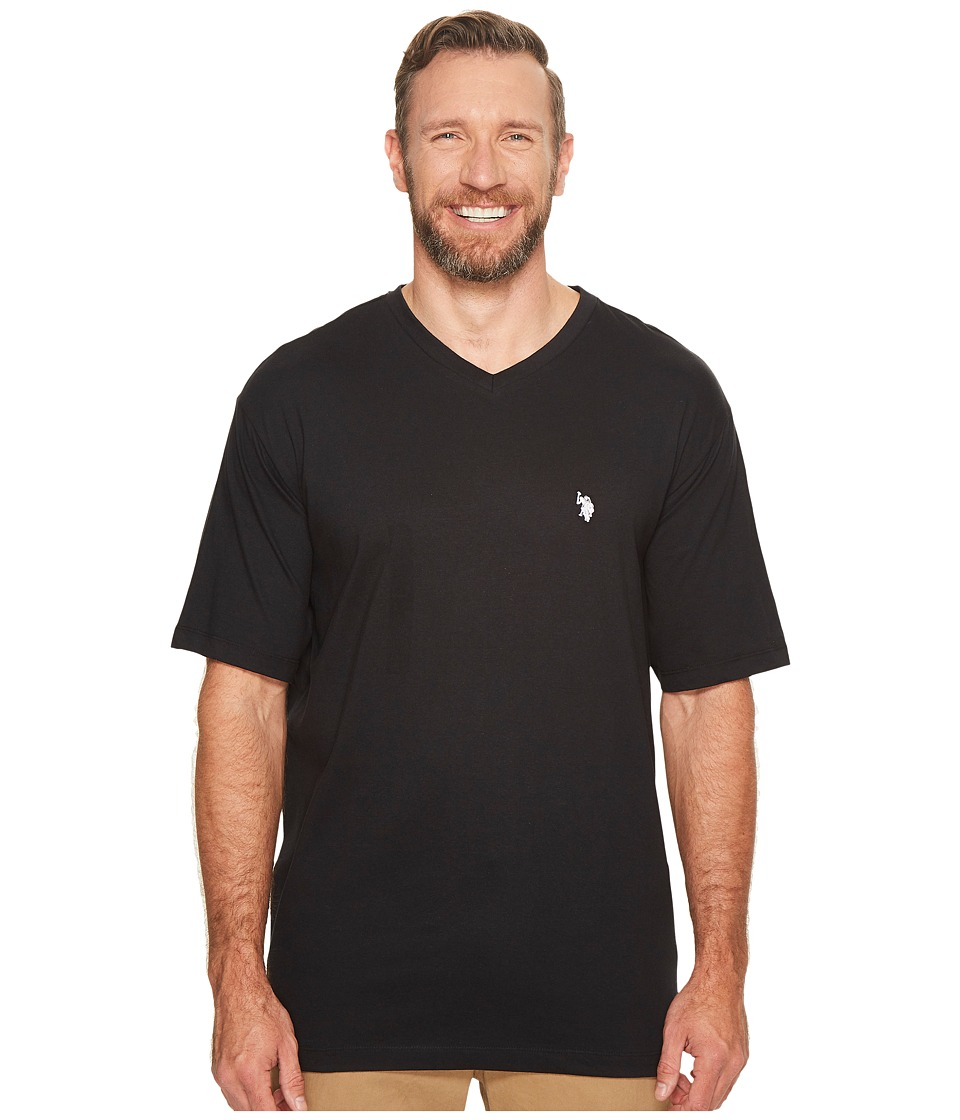 U.S. POLO ASSN. - Big Tall V-Neck T-Shirt (Black) Men's T Shirt