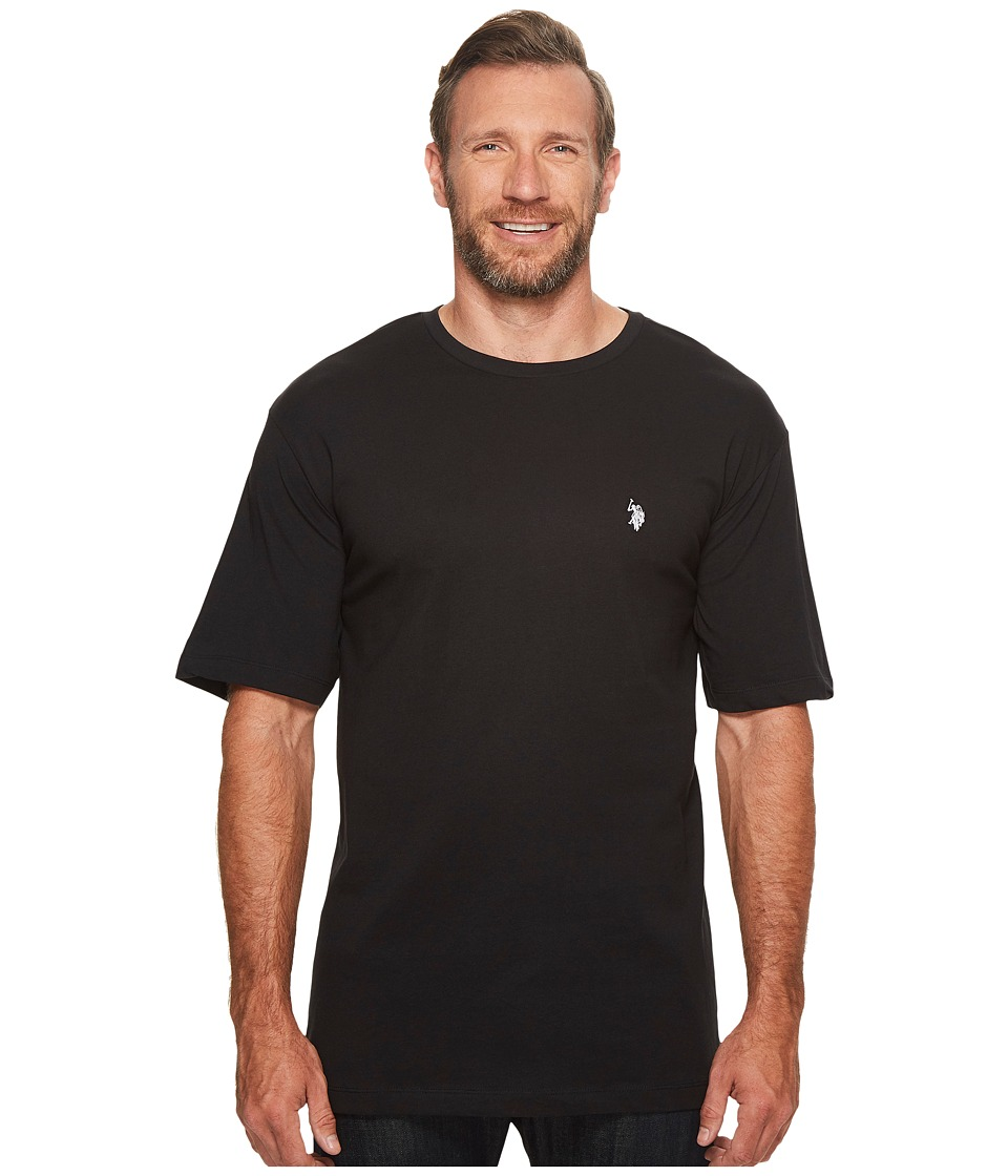 U.S. POLO ASSN. - Big Tall Crew Neck Small Pony T-Shirt (Black) Men's T Shirt