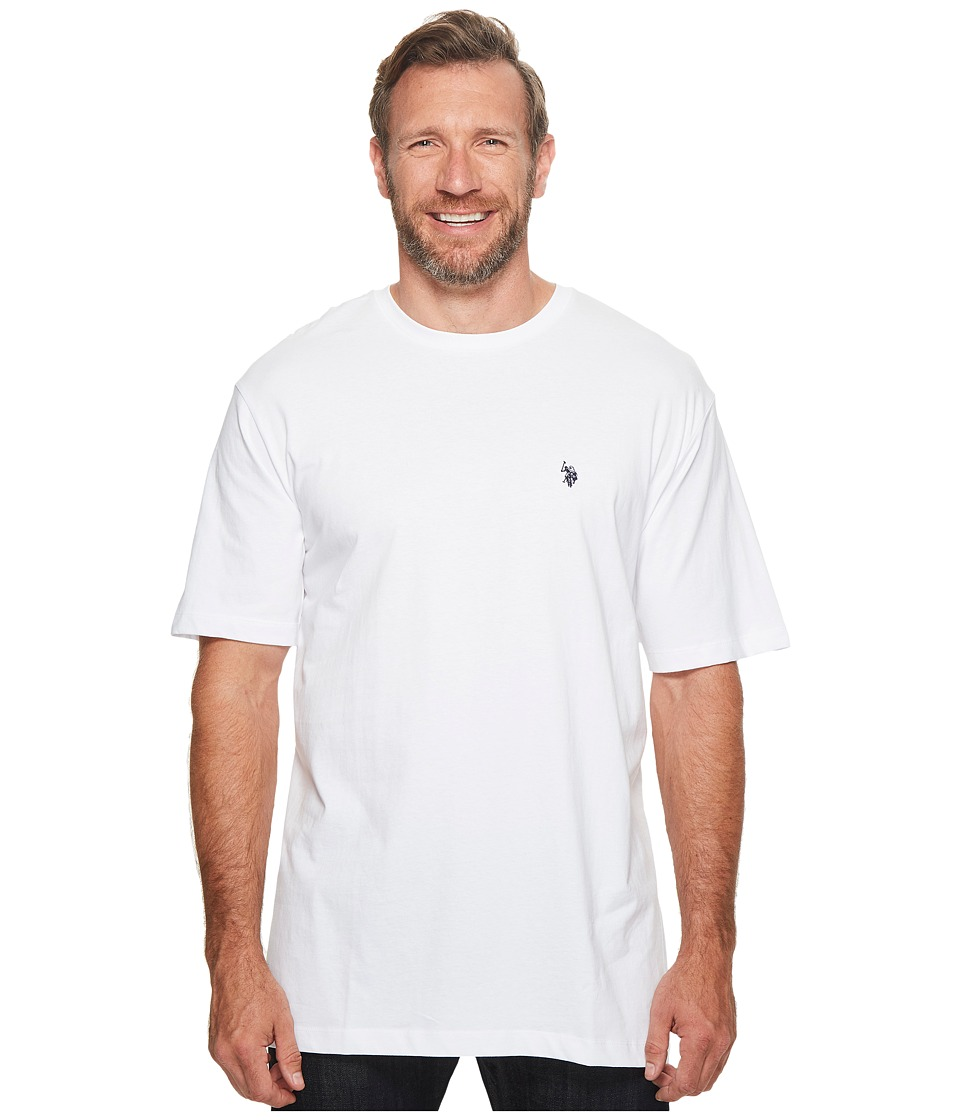 U.S. POLO ASSN. - Big Tall Crew Neck Small Pony T-Shirt (White) Men's T Shirt