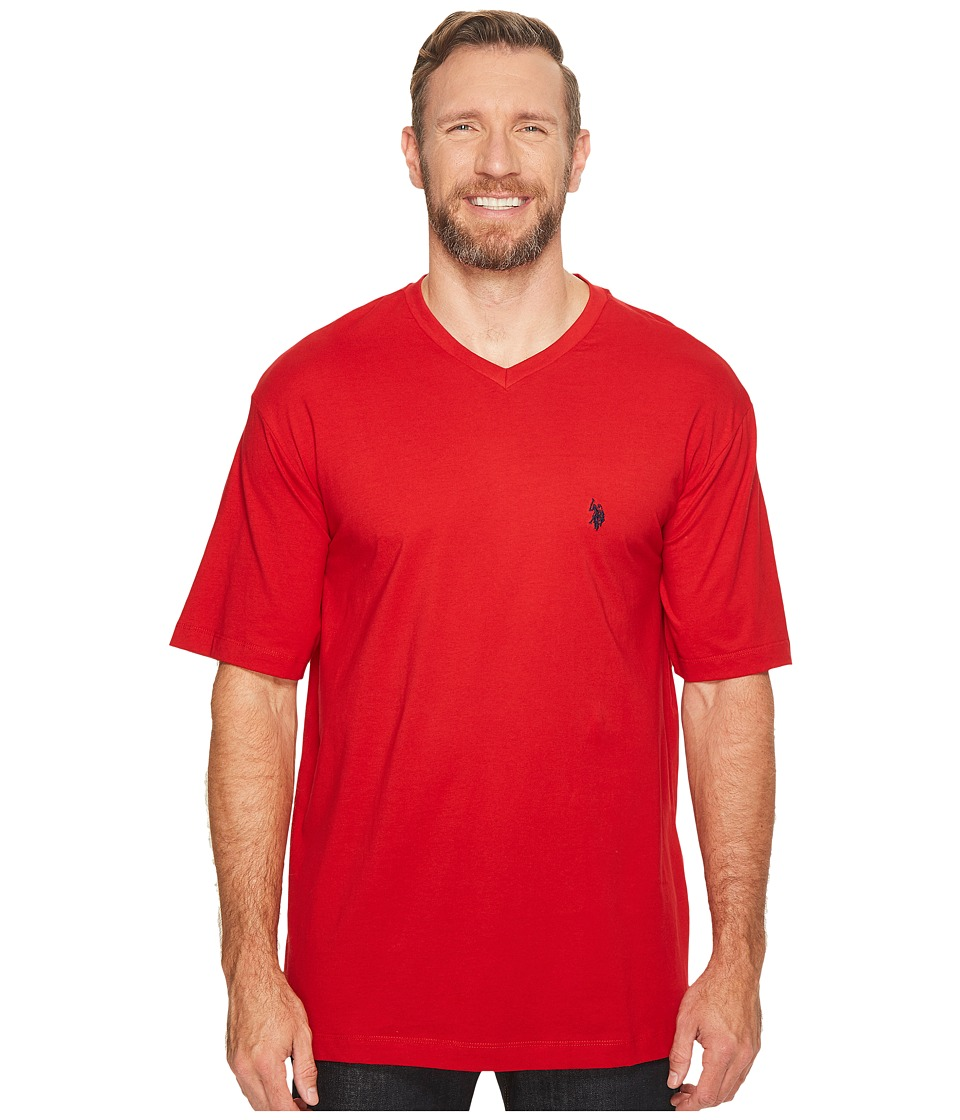 U.S. POLO ASSN. - Big Tall V-Neck T-Shirt (Engine Red) Men's T Shirt