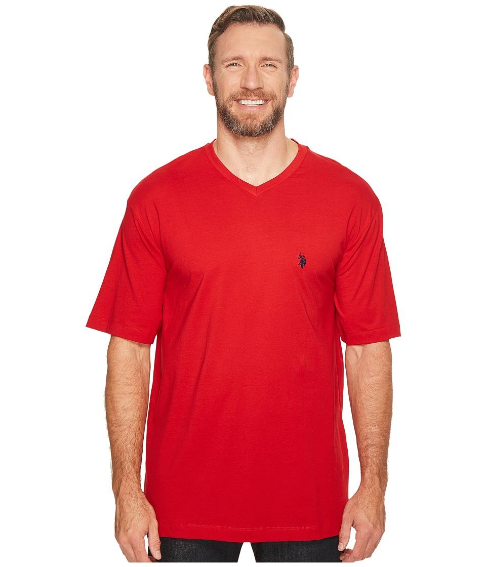 U.S. POLO ASSN. - Big Tall V-Neck T-Shirt (Engine Red) Men's T Shirt