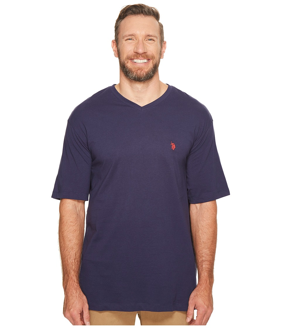U.S. POLO ASSN. - Big Tall V-Neck T-Shirt (Classic Navy) Men's T Shirt