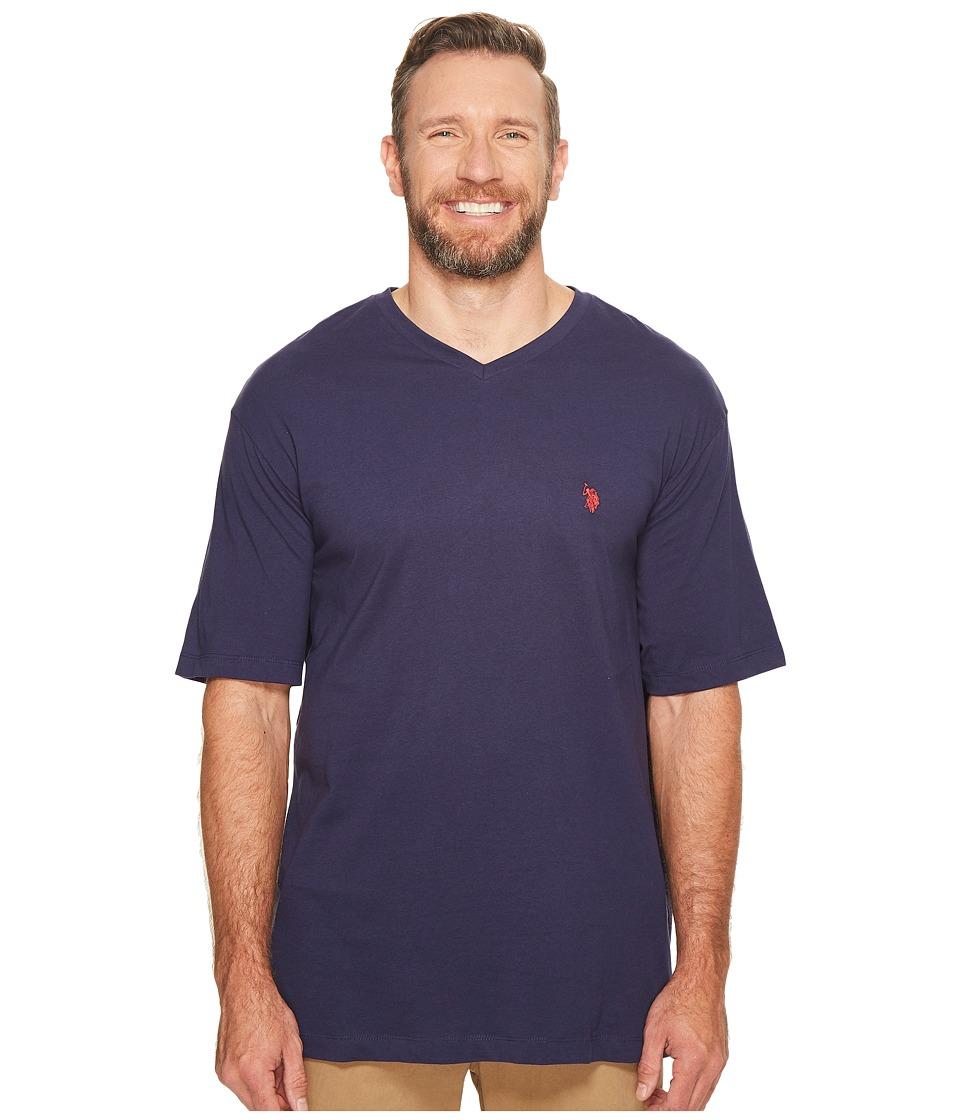 U.S. POLO ASSN. - Big Tall V-Neck T-Shirt (Classic Navy) Men's T Shirt