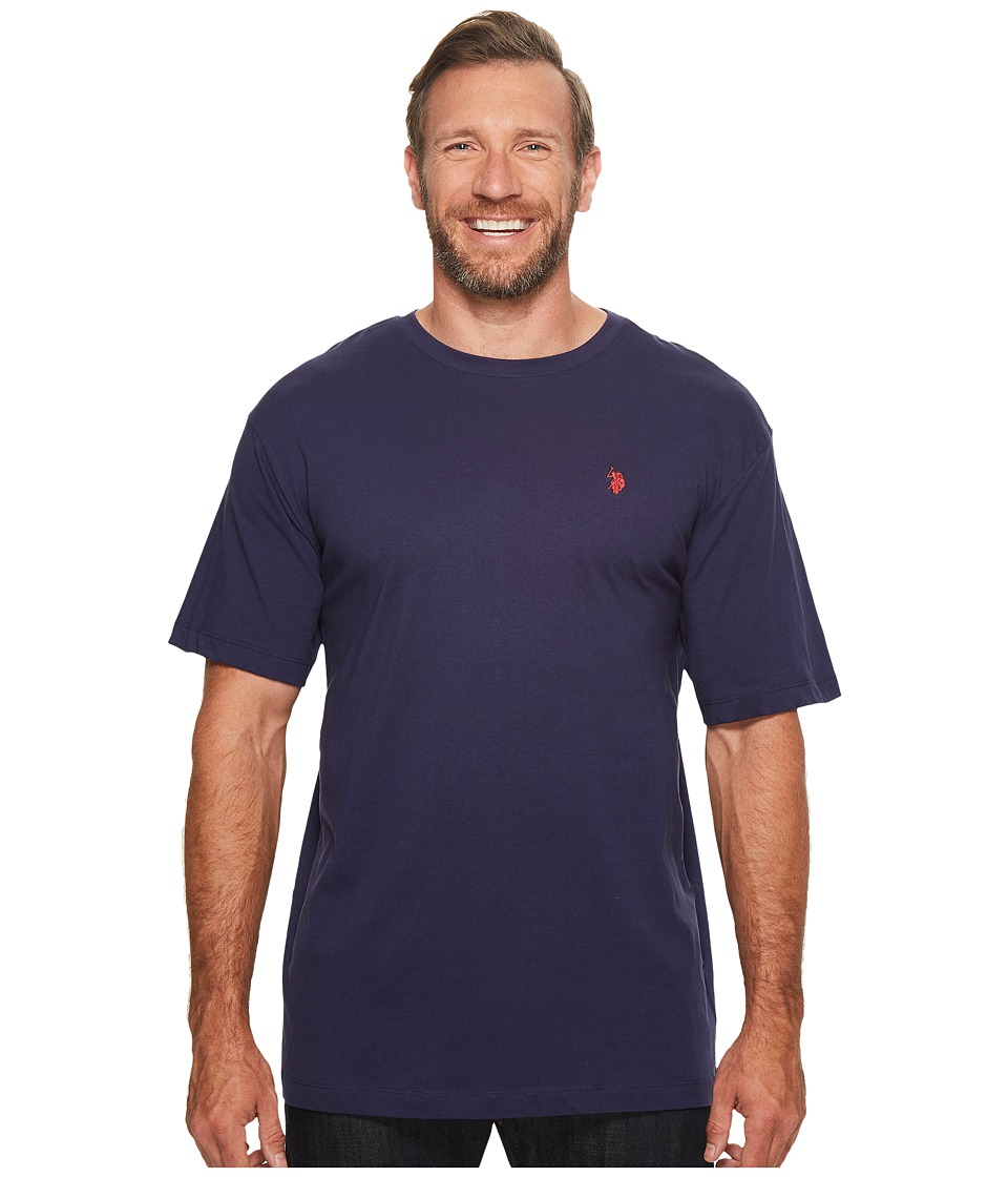U.S. POLO ASSN. - Big Tall Crew Neck Small Pony T-Shirt (Classic Navy) Men's T Shirt