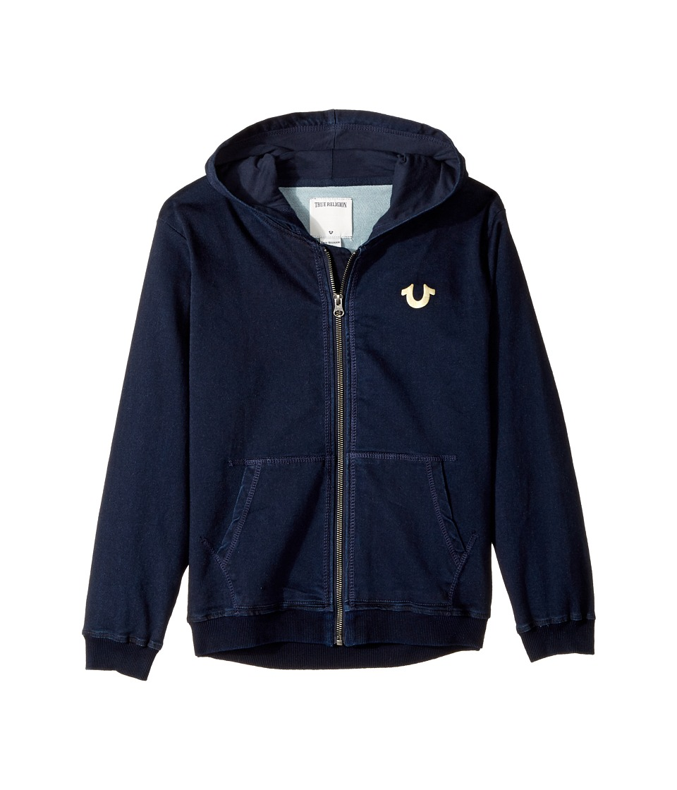 True Religion Kids - French Terry Hoodie (Big Kids) (Indigo 1) Boy's Sweatshirt