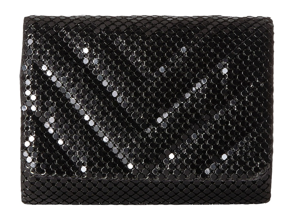 Jessica McClintock Katie Quilted Mesh Shoulder Bag Clutch (Black) Clutch Handbags