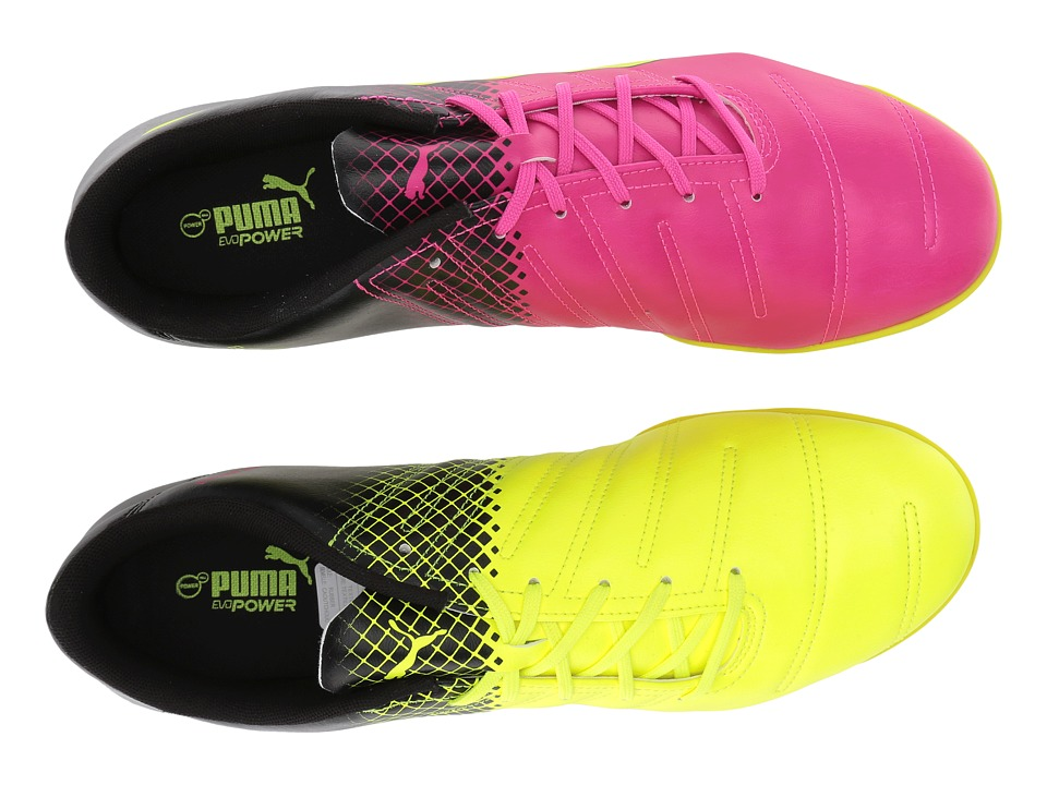 PUMA - evoPOWER 4.3 IT (Pink Glo/Safety Yellow/Black) Men's Lace up casual Shoes