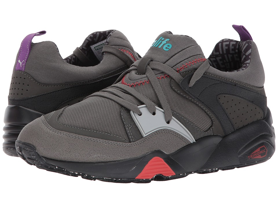 PUMA - Blaze of Glory X Alife Black (Dark Shadow/High-Rise/Flame Scarlet) Men's Lace up casual Shoes